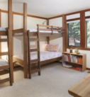 Bedroom with two sets of bunkbeds