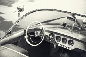 Photo of a Vintage Car at the Tahoe Maritime Museum.