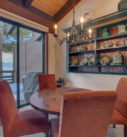 Dining area with lake view deck